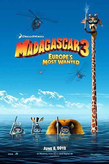 دانلود زیرنویس انیمیشن Madagascar 3: Europe's Most Wanted 2012
