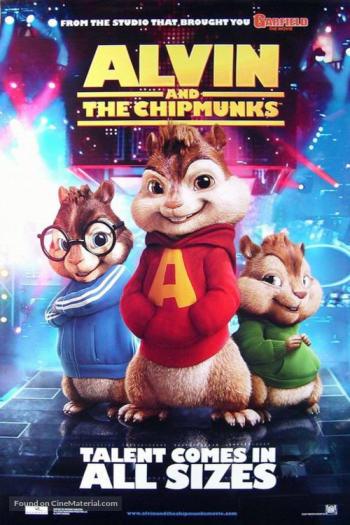 دانلود زیرنویس انیمیشن Alvin and the Chipmunks 2007