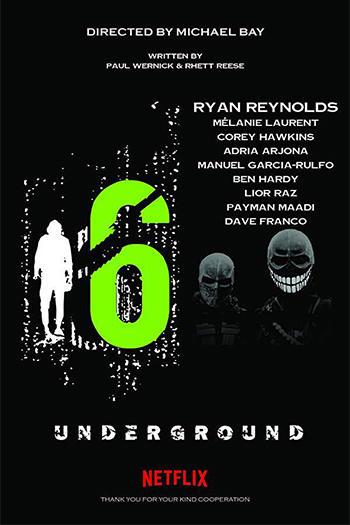 دانلود زیرنویس فیلم Six Underground 2019