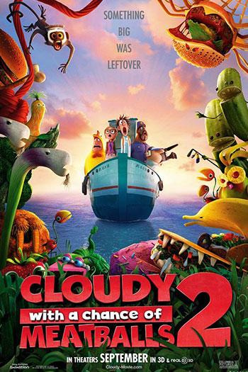 دانلود زیرنویس انیمیشن Cloudy with a Chance of Meatballs 2 2013